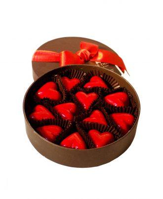 caja 12 corazones serge thiry chocolates de autor