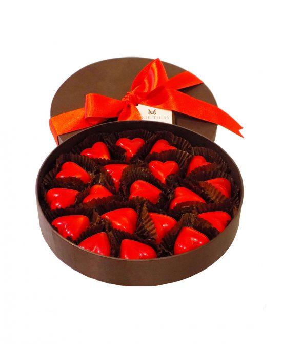 caja 24 corazones serge thiry chocolates de autor