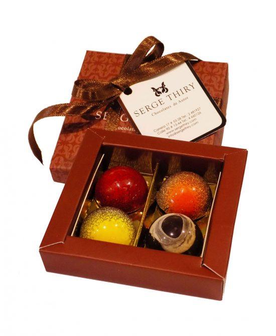 caja 4 bombones serge thiry chocolates de autor